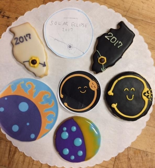 In Carbondale, Cristaudo's Café held a design contest for eclipse themed cookies. All three designs will be made and sold leading up to and during the eclipse.