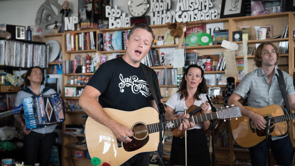 Jason Isbell performs a Tiny Desk Concert on June 30, 2017. (Claire Harbage/NPR)