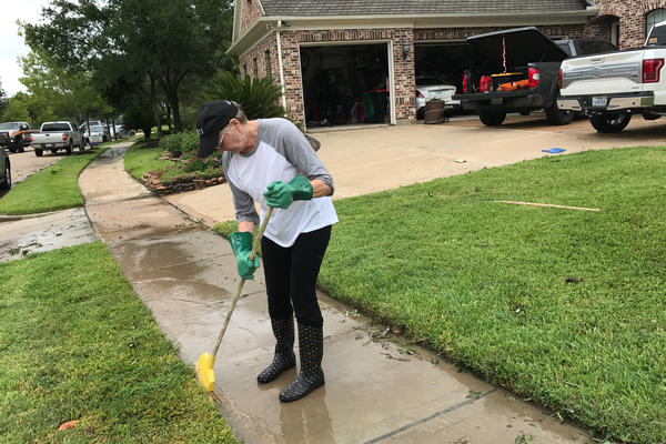 "Linda Varnado says she and her husband had anticipated a lot of rain but not strong winds. ""I was not expecting this force tearing through my neighborhood."""