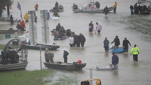 The damage to Houston's economy from Harvey's torrential rainfall will be by one estimate more than $30 billion, a staggering sum.
