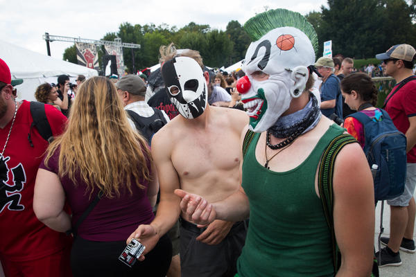 The Juggalo March, on the National Mall on Saturday, was made up of the fans of the horror-core rap duo Insane Clown Posse.