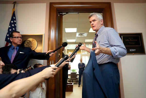 Sen. Bill Cassidy, R-La., continues to tweak the health care bill he cosponsors in an effort to persuade reluctant senators to back it.