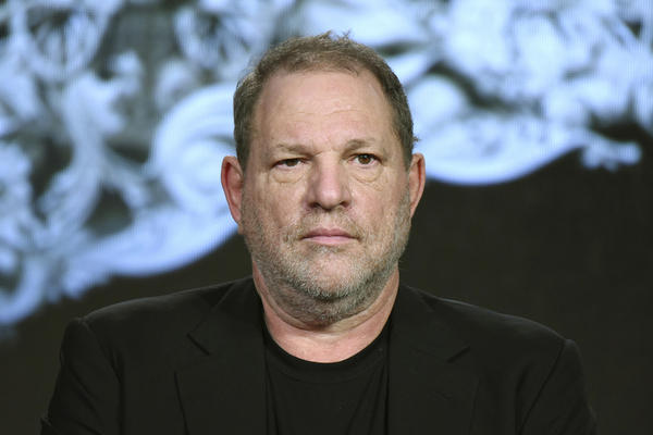"""In this Jan. 6, 2016 file photo, producer Harvey Weinstein participates in the """"War and Peace"""" panel in Pasadena, Calif. (Richard Shotwell/IAP)"""