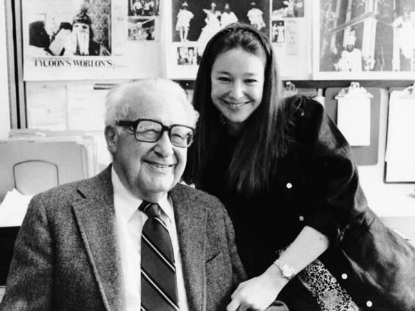 Anne Fadiman with her father, Clifton, in 1984.