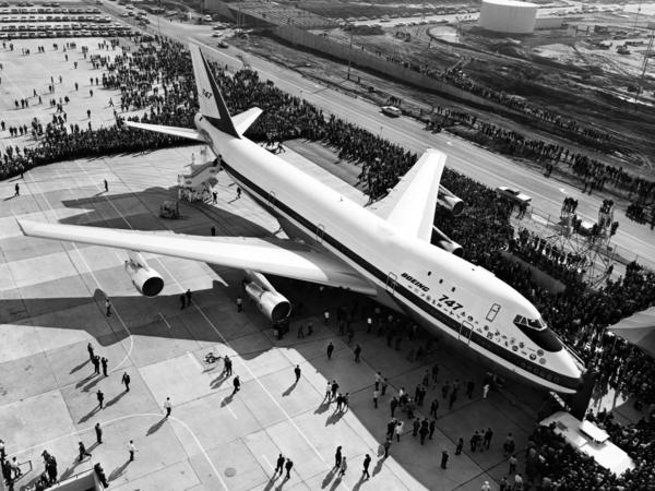 The first Boeing 747 rolled out of the company's plant Washington state in September 1968 before the world's press and representatives of the 26 airlines that had ordered the plane.
