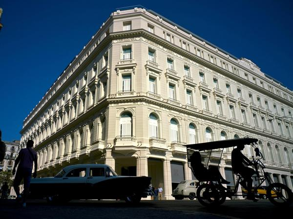 The luxury Manzana de Gomez Kempinski hotel in Havana is off-limits to Americans, according to a State Department list of banned companies and hotels in Cuba that was published on Wednesday.