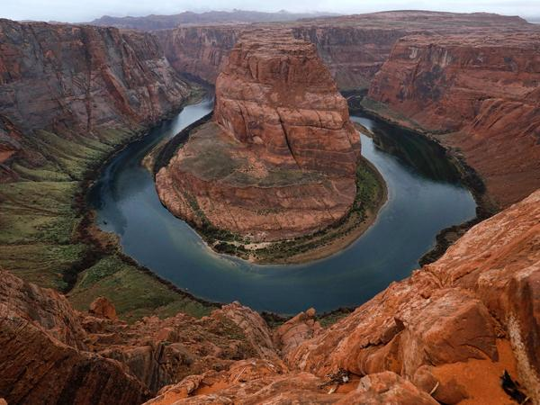 The Colorado River wraps around Horseshoe Bend in the in Glen Canyon National Recreation Area in Page, Ariz. on Feb. 11.