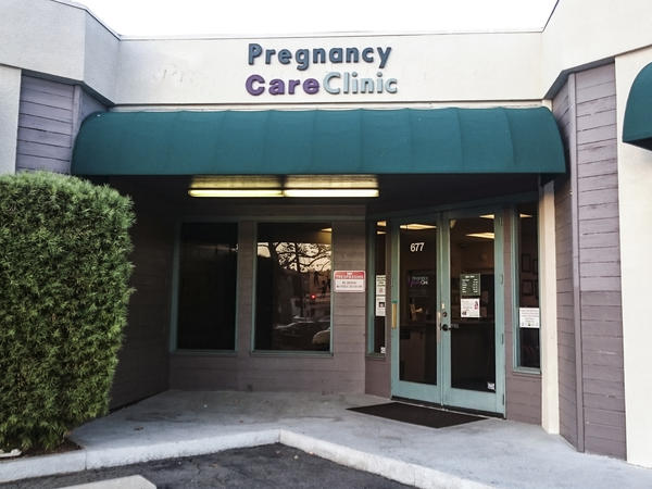 After California passed the Reproductive FACT Act in 2015, a number of anti-abortion pregnancy clinics filed lawsuits. The Supreme Court says it will consider the law in its upcoming session. One of the clinics was the East County Pregnancy Care Clinic in El Cajon, Calif., seen here in a file photo.