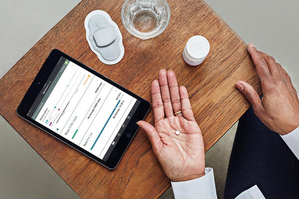"The FDA has approved the first drug with ""a digital ingestion tracking system."" Abilify MyCite is an antipsychotic with an ingestible sensor that transmits data to a patch, which then sends the information to a smartphone app."