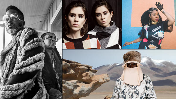 Clockwise from left: Shabazz Palaces, Tegan and Sara, Jimetta Rose, Perera Elsewhere.