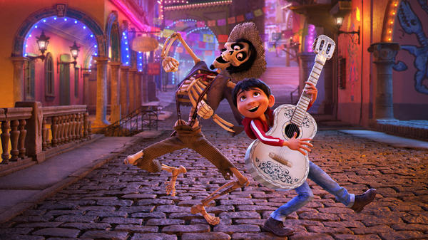 In <em>Coco</em>, young Miguel's love of music ultimately leads him to the Land of the Dead where he teams up with charming trickster Hector.