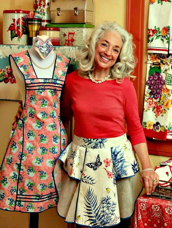 Her apron collection never stops growing. EllynAnne Geisel says she still gets aprons in the mail, but has also gotten to the point where she has so many she will give them away and let the new owners know the history behind each as they tie it on.