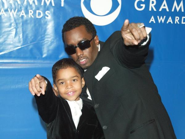 P. Diddy and son Justin at the Grammy Awards at Madison Square Garden in 2003, the last time the event was held in New York.