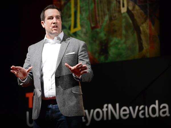 David Burkus on the TED stage