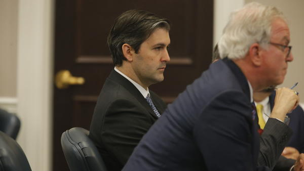 Former police officer Michael Slager, seen during his state murder trial last year in Charleston, S.C., which ended in a hung jury.