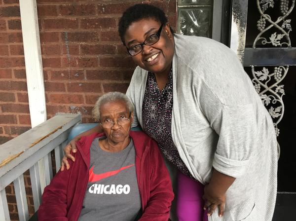 Frances Shedd, 80, once worked for a government service that provides homemaker assistance to older adults up to 12 hours a week. Now she gets help from Quintechette Jones.