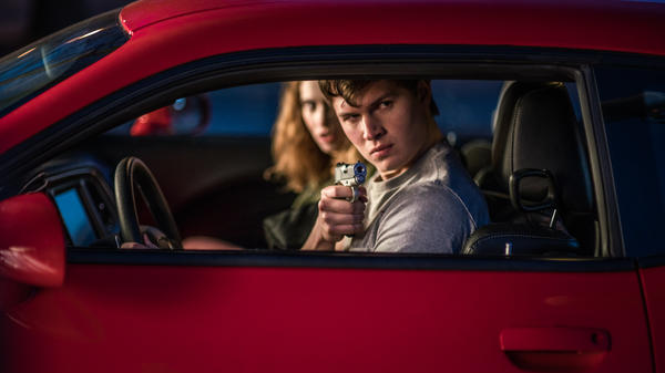 Ansel Elgort drives getaway cars in <em>Baby Driver</em>.