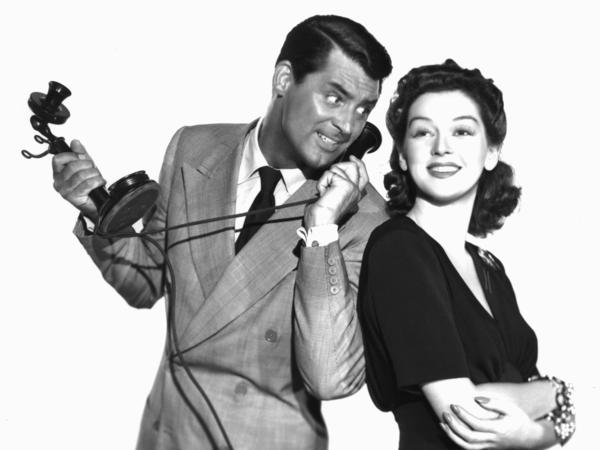 Cary Grant and Rosalind Russell starred in the 1940 farce <em>His Girl Friday,</em> where a newspaper editor tries to win back his ex-wife, an ace reporter.
