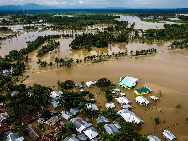 Tropical Storm Tembin dumped torrential rains across the island causing massive flooding, landslides and mudslides.