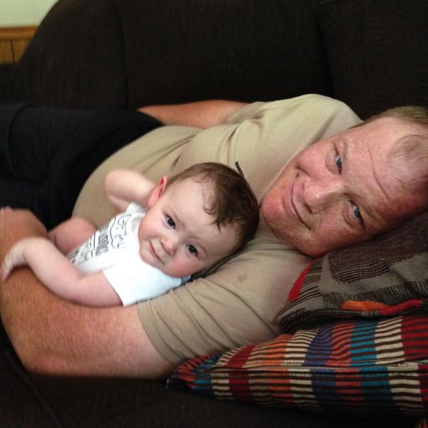 Joe Thompson, holding son Lincoln, struggled with opioid addiction for years.