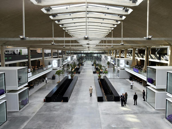 Station F, a massive startup incubator in Paris, gathers a whole entrepreneurial ecosystem under one roof.