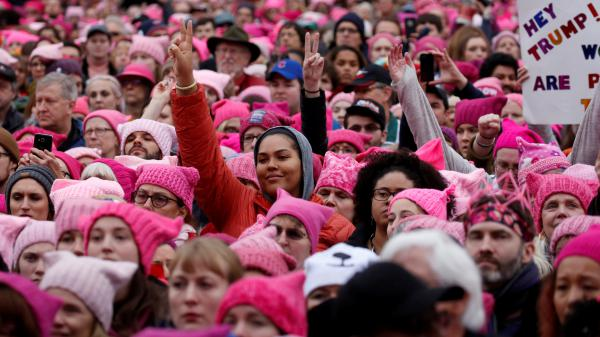 Hundreds of thousands gathered in Washington, D.C. on Jan. 21, 2017 for the Women's March. Organizers are rallying in Las Vegas this year.