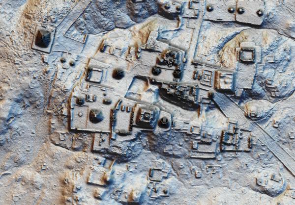 A LiDAR image from Tikal, the most important Maya city.