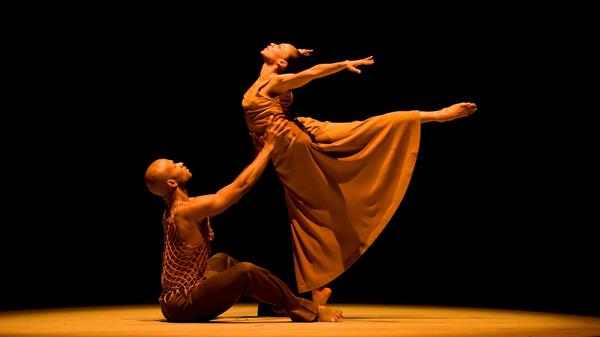 "Glenn Allen Sims and Linda Celeste Sims perform the duet ""Fix Me, Jesus"" in Alvin Ailey American Dance Theater's <em>Revelations</em>. The pair have been married for almost 20 years."