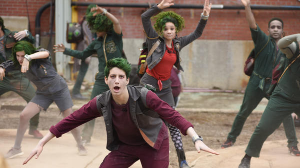 In Disney Channel's new original movie-musical <em>ZOMBIES</em>, a high school is integrated with zombie students, including the charismatic Zed (played by Milo Manheim).