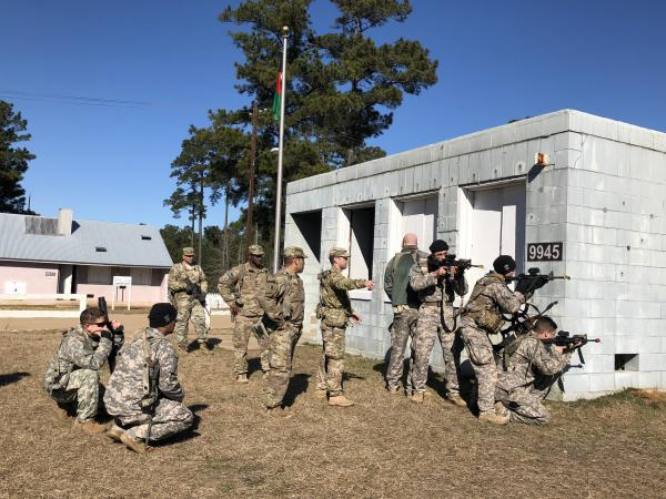 Members of the Army's 1st Security Assistance Brigade train at Fort Polk, La. The Army plans to create six SFABs with about 800 members each.