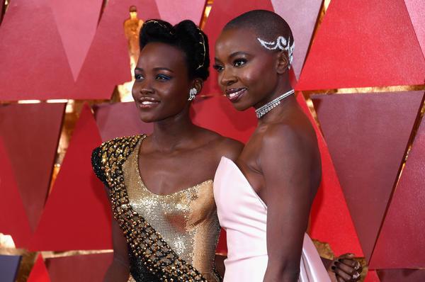 Lupita Nyong'o (left) and Danai Gurira