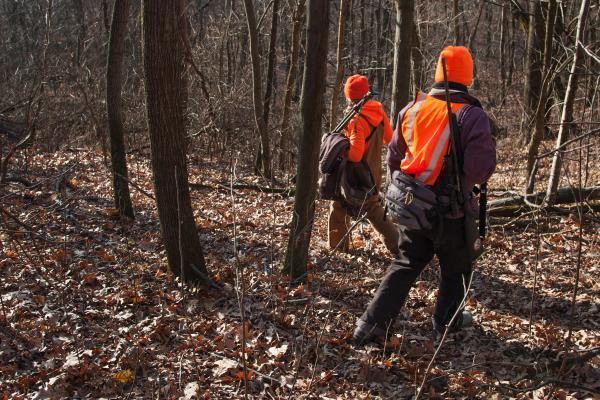 Emily Iehl and Beth Wojcik set out to find an open spot to sit and wait for moving deer. Iehl, who works with Wisconsin's DNR is mentoring Wojcik, who has never killed a deer before.