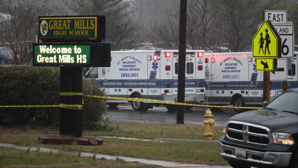 """The two victims have been taken to local hospitals. The male student, 14<strong>,</strong> is in stable condition, and the female student, 16, is in intensive care with """"life-threatening critical injuries,"""" authorities said."""