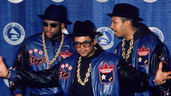 Run-D.M.C. backstage at the Grammy Awards in March 1987. The hip-hop group's 1986 album <em>Raising Hell</em> is one of 25 new inductees to the Library of Congress Recording Registry.
