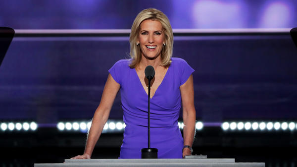 Fox News host Laura Ingraham delivers a speech 2016 Republican National Convention. Several advertisers are backing away from her show.
