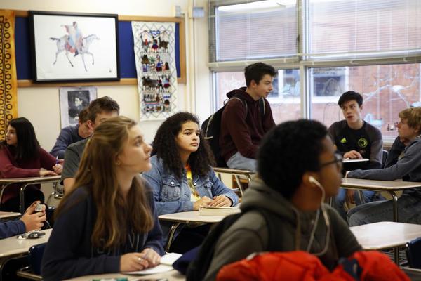 Tjessa Arradando in her advanced English class.