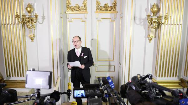 As permanent secretary from 2009 to 2015, Peter Englund fulfilled the Swedish Academy's most high-profile duty: announcing the winner of the Nobel Prize in literature. Here is is announcing French novelist Patrick Modiano's win in 2014.