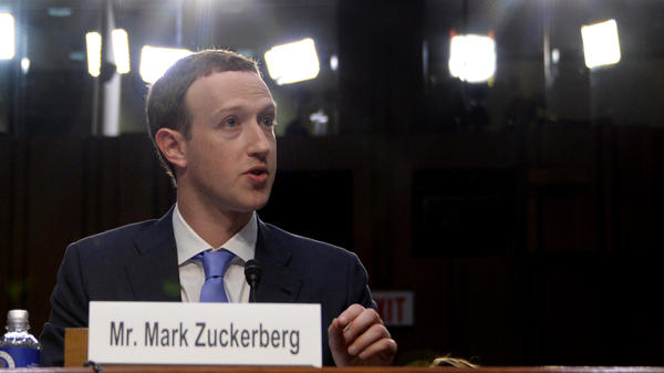 Facebook CEO Mark Zuckerberg testifies before a joint hearing of the U.S. Senate Commerce, Science and Transportation Committee and Senate Judiciary Committee on Capitol Hill in Washington, D.C., on Tuesday.