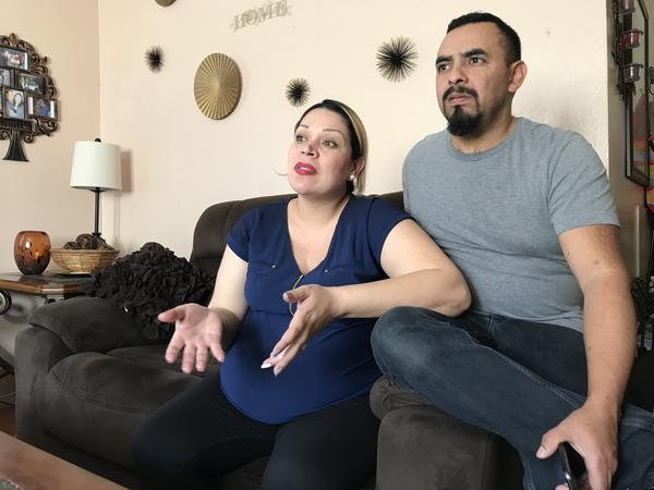 Jimmy Mejia and his wife, Patty Garrido, are being evicted from their South Los Angeles apartment. They're having trouble finding new housing they can afford.