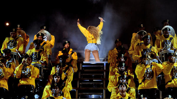 Beyonce Knowles performs during Coachella on April 14, 2018. The singer's performance became the weekend's dominant discussion.
