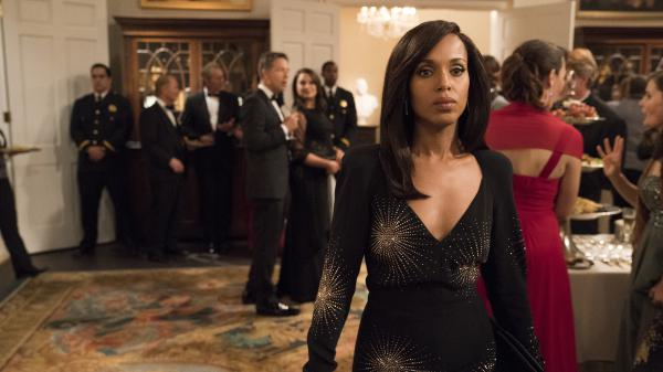 <em>Scandal</em>'s Olivia Pope (Kerry Washington) is based on real-life African-American political fixer Judy Smith.