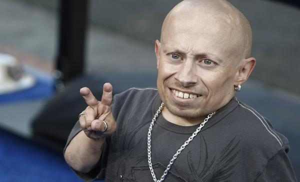 Actor Verne Troyer, seen in 2008 at the premiere of<em> The Love Guru</em>, has died at age 49.