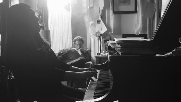 Simone Dinnerstein and Philip Glass.