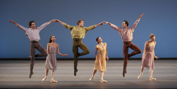 Robbins choreographed <em>Dances at a Gathering </em>to the music of Chopin in the late 1960s. It is among 20 works being performed this month by the New York City Ballet to mark the centennial of Robbins' birth.