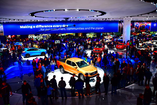 """Howes said the Detroit Auto Show used to be """"the place to be,"""" but now BMW and Mercedes are pulling out, and Swedish and British executives aren't making a stop in Detroit a priority anymore."""