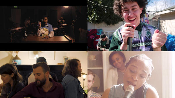 Clockwise from top left: Audible; Hobo Johnson and the LoveMakers; Joy Ike; St. Paul de Vence