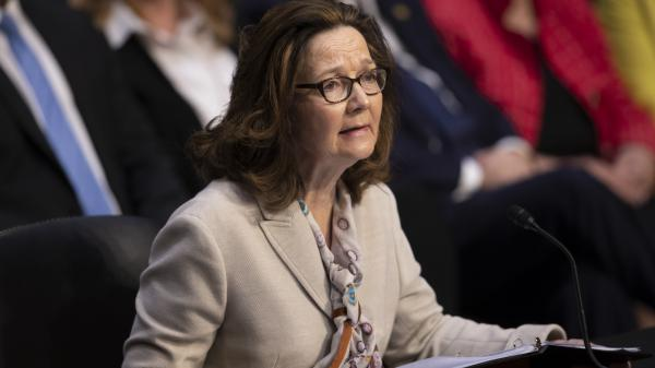 CIA director nominee Gina Haspel testifies at a Senate intelligence committee hearing Wednesday.
