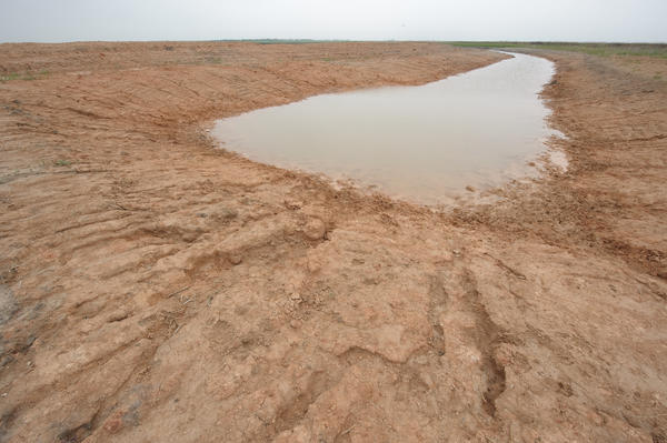 Drought conditions in Anson, Texas in 2009.