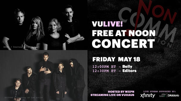 Belly and Editors perform live on Friday at noon from NON-COMM 2018.