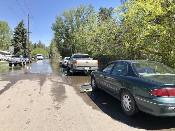 A flooded neighborhood in Missoula, Montana.